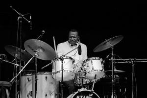 Elvin Jones, Fairfield Halls, Croydon, Surrey, November, 1987 by Brian O'Connor