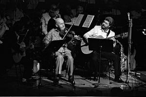 Stephane Grappelli, Barbican, London, 1987 by Brian O'Connor