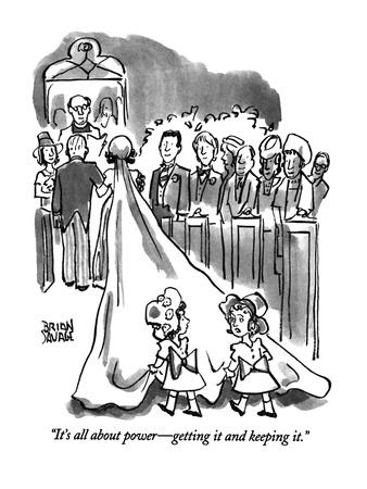"""""""It's all about power?getting it and keeping it."""" - New Yorker Cartoon"""