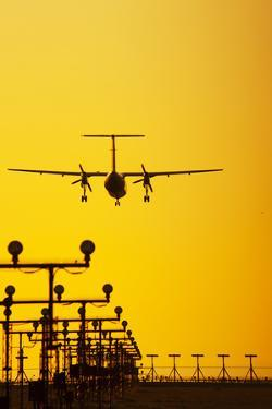 Turboprop Commercial Airplane Landing by Brian Stablyk