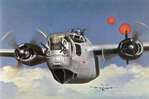 "During World War Two an American B-24 ""Liberator"" Encounters ""Foo Fighters"" During a Bombing Raid by Brian Withers"