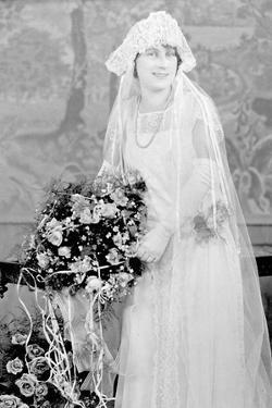 Bride in Her Wedding Gown, Ca. 1924
