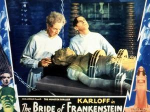 Bride of Frankenstein, Ernest Thesiger, Elsa Lanchester, Colin Clive, 1935