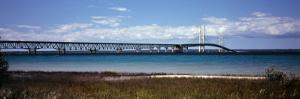Bridge Across a Lake, Mackinac Bridge, Lake Michigan, Mackinaw City, Michigan, USA