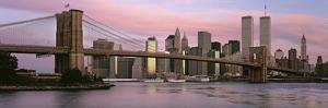 Bridge across a River, Brooklyn Bridge, Manhattan, New York City, New York State, USA