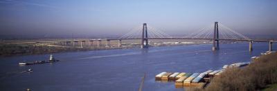 Bridge across a River, Mississippi River, New Orleans, Louisiana, USA