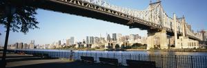 Bridge across a River, Queensboro Bridge, East River, Manhattan, New York City, New York State, USA