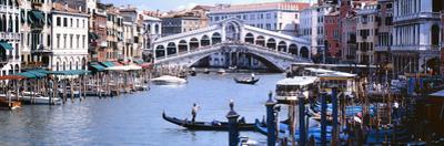 Bridge across a River, Rialto Bridge, Grand Canal, Venice, Italy