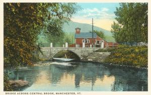 Bridge across Central Brook, Manchester, Vermont