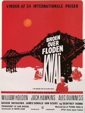 Bridge on the River Kwai, Danish Movie Poster, 1958