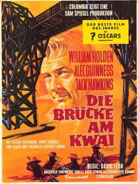 Bridge on the River Kwai, German Movie Poster, 1958