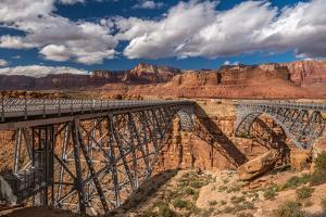Bridge over a river, Navajo Bridge, Colorado River, Marble Canyon, Arizona, USA