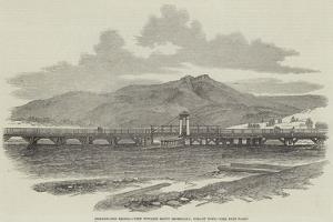 Bridgewater Bridge, View Towards Mount Dromedary, Hobart Town