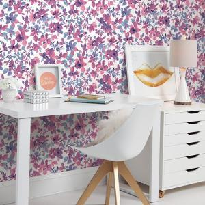 Bright Watercolor Floral Peel & Stick Wallpaper