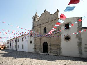 Italy, Sardinia, Pozzomaggiore, Chiesa Madonna Della Salute, Pendant Garlands by Brigitte Protzel
