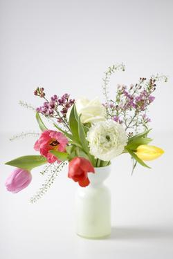 Spring Bouquet with Tulips by Brigitte Protzel