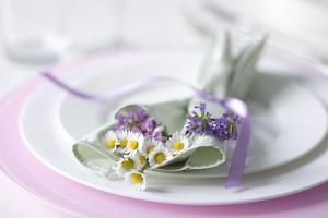 Table Decoration with Wild Flowers by Brigitte Protzel