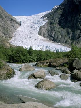 Briksdal Glacier, Sogn and Fjordane, Norway, Scandinavia by G Richardson