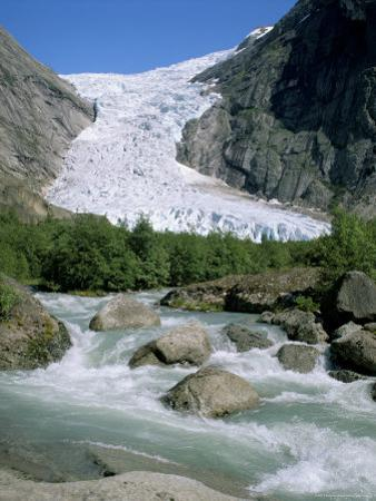 Briksdal Glacier, Sogn and Fjordane, Norway, Scandinavia