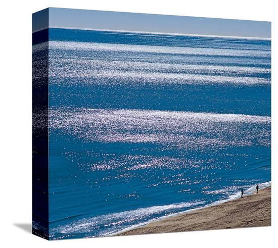Brilliant Shiny Sea--Stretched Canvas