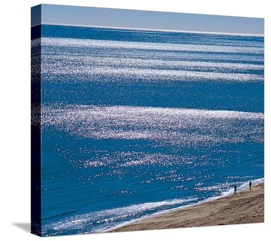 Brilliant Shiny Sea--Stretched Canvas Print