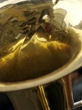 Florence, Italy Reflection of Tuba Player by Brimberg & Coulson