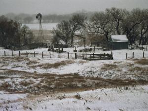 Kansas, Winter Farm Scene, Snowy Weather by Brimberg & Coulson