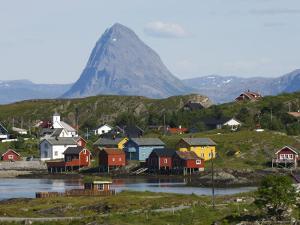 Norway, Lovund, Fishing Village on Coast by Brimberg & Coulson