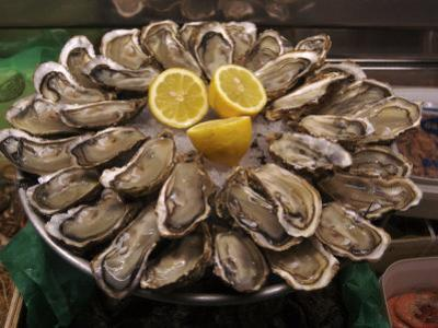 Oysters on Display in the Street to Attract Customers, Paris, France by Brimberg & Coulson