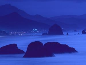 Sea Stacks, Dusk, Cannon Beach, Oregon by Brimberg & Coulson
