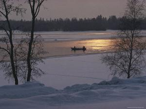 Sitting in Rowing Boat during Winter, Helsinki, Finland by Brimberg & Coulson