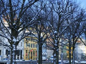 Winter Scene of Nyhavn, Copenhagen, Denmark by Brimberg & Coulson