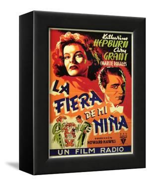 Bringing Up Baby, Spanish Movie Poster, 1938