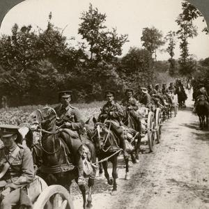 Bringing Up Reserve Ammunition, World War I, 1914-1918