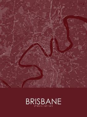 Brisbane, Australia Red Map