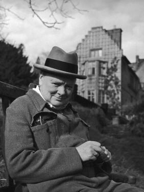 Britain's Prime Minister Winston Churchill