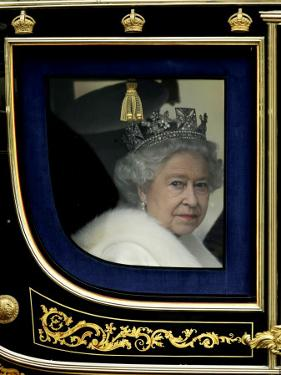 Britain's Queen Elizabeth II Arrives Back at Buckingham Palace in Her State Coach