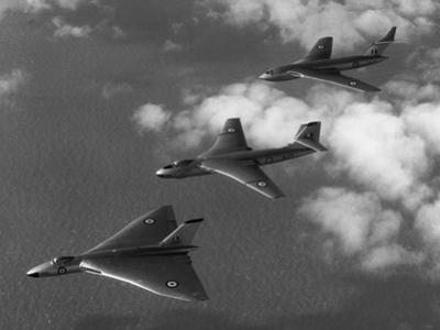"Britain's ""V-Bomber"" Trio Flying in Formation"