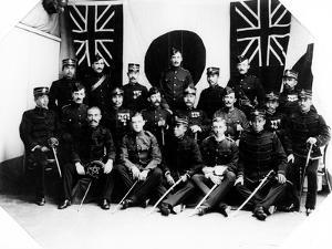 British and Japanese Officers, 1900