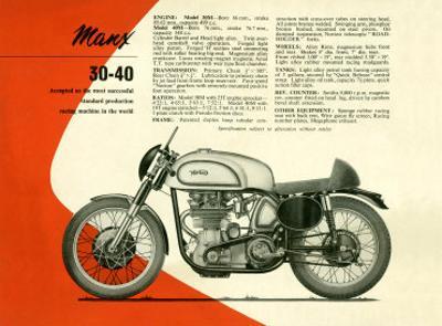British BSA Manx 30 40 Motorcycle