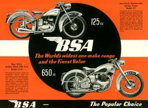 British BSA Motorcycle 650 125