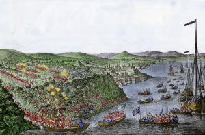 British Capturing Quebec in the Battle of the Plains of Abraham, French and Indian War, c.1759