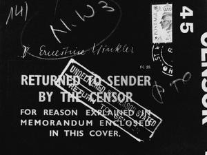 British Mail Censored During World War II