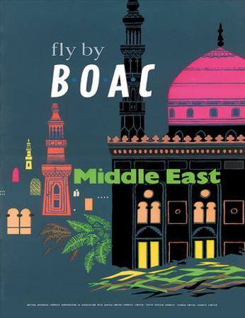 British Overseas Airways Corporation: Fly by BOAC - Middle East, c.1954