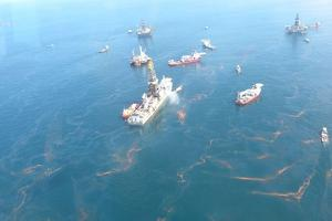 British Petroleum BP Oil Company's Deepwater Horizon Oil Spill, April 1910