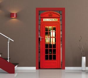 British Phone Box Door Wallpaper Mural