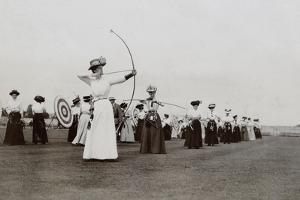 Women's Archery, 1909 by British Photographer