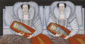 The Cholmondeley Ladies by British School 17th century