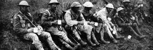 British Soldiers Having a Cup of Tea; First World War, 1916