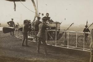 British Soldiers with a Military Airship